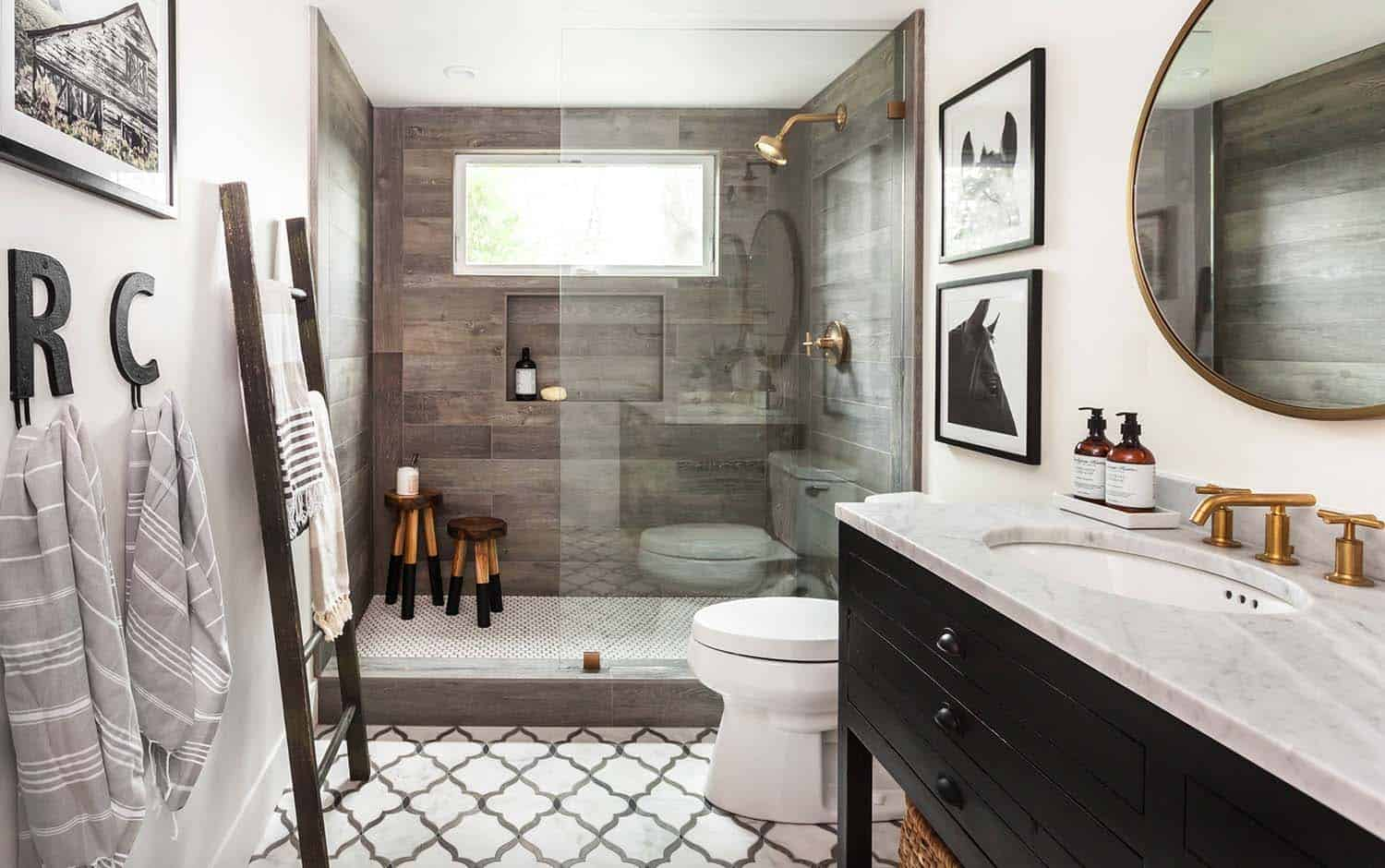 Gorgeous Farmhouse Style Bathrooms-12-1 Kindesign