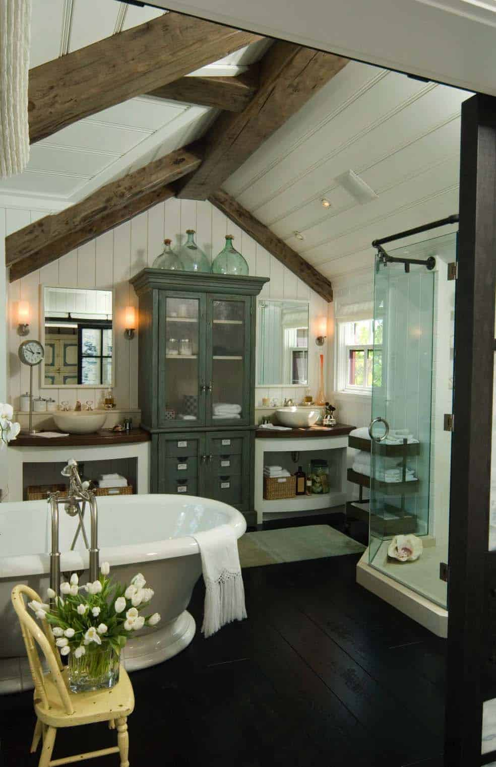 Gorgeous Farmhouse Style Bathrooms-16-1 Kindesign