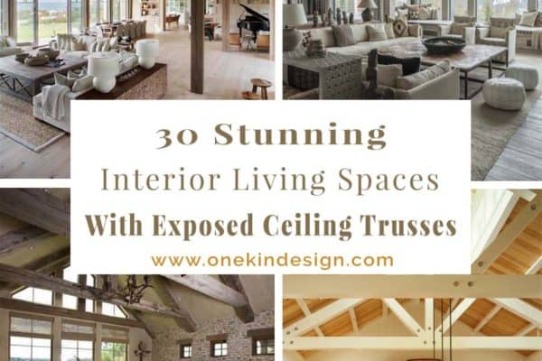 featured posts image for 30 Stunning interior living spaces with exposed ceiling trusses