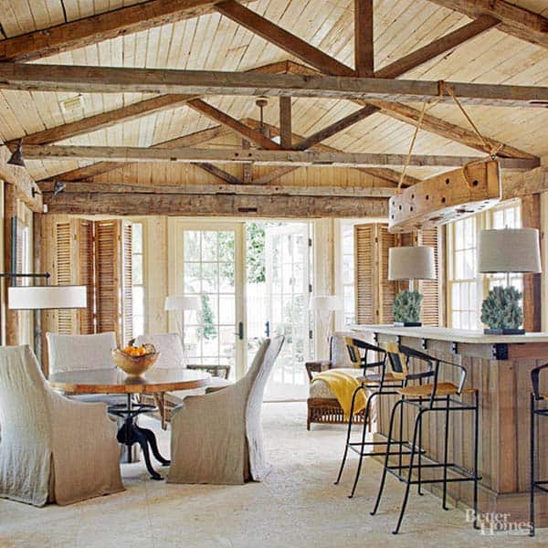 Interior Living Spaces-Exposed Ceiling Trusses-02-1 Kindesign
