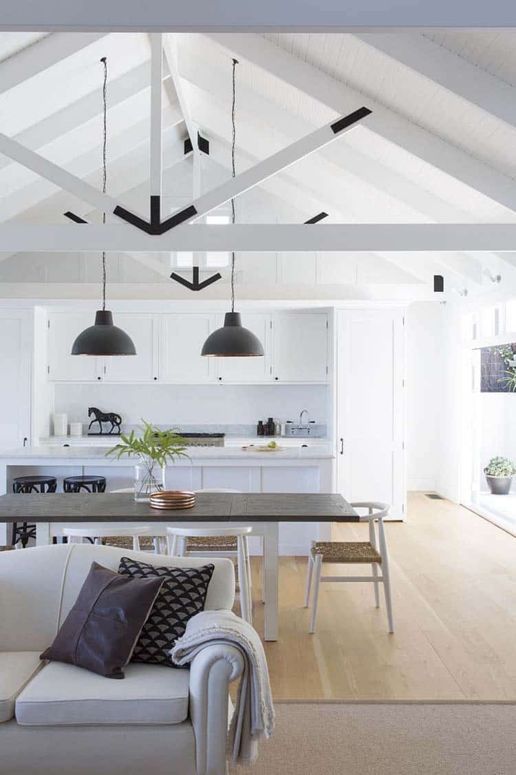 Interior Living Spaces-Exposed Ceiling Trusses-07-1 Kindesign