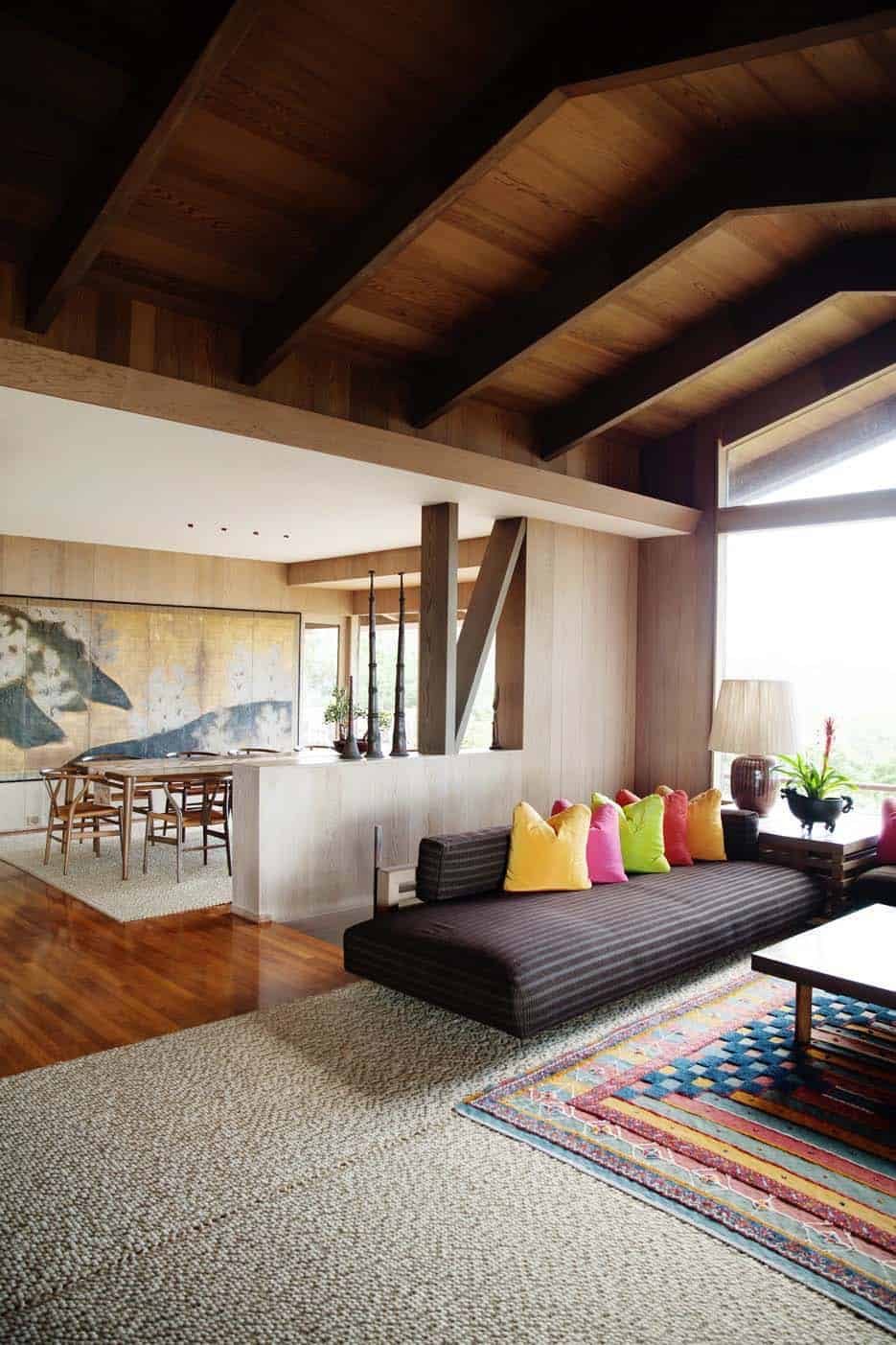 Interior Living Spaces-Exposed Ceiling Trusses-22-1 Kindesign