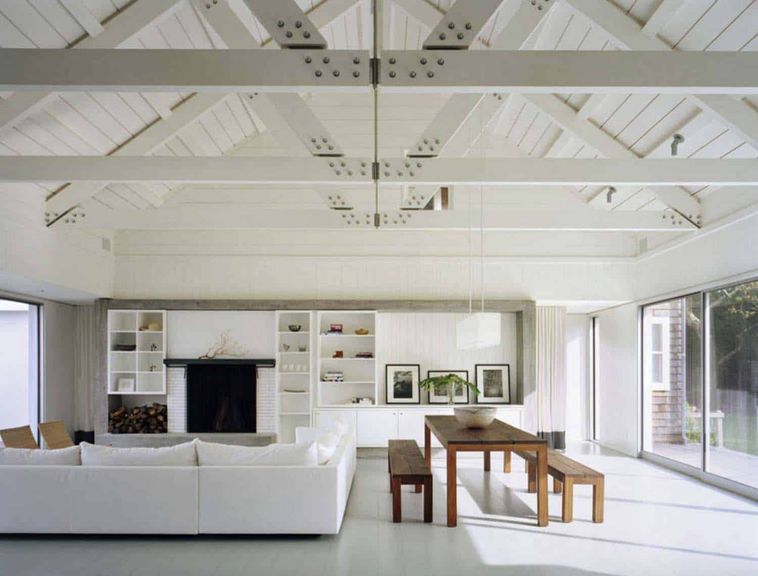 Interior Living Spaces-Exposed Ceiling Trusses-23-1 Kindesign