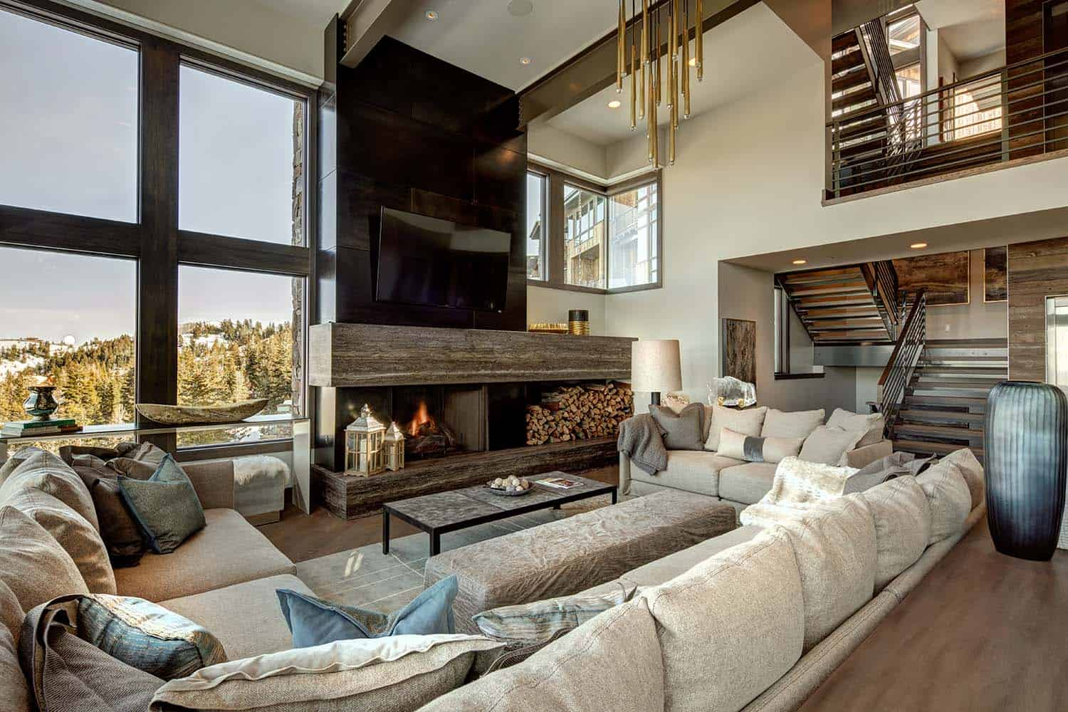 Mountain modern home in park city lets you ski to your door Mountain home interiors