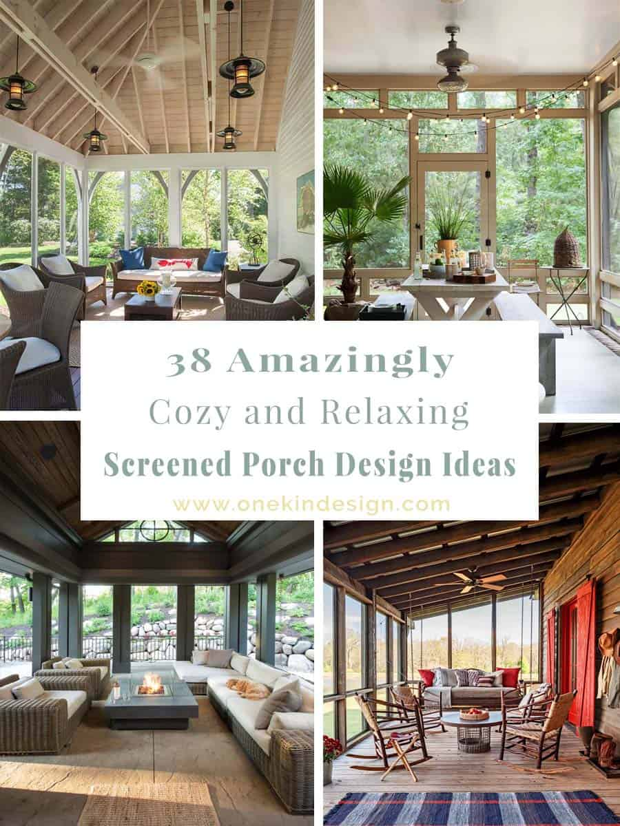38 amazingly cozy and relaxing screened porch design ideas - Screen Porch Ideas Designs