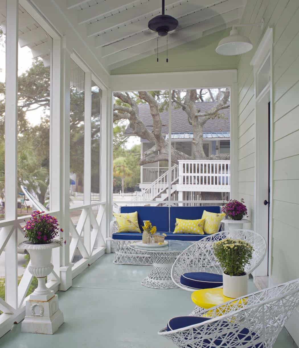 Colorful Accents Elevate Chic Beach House On Tybee Island