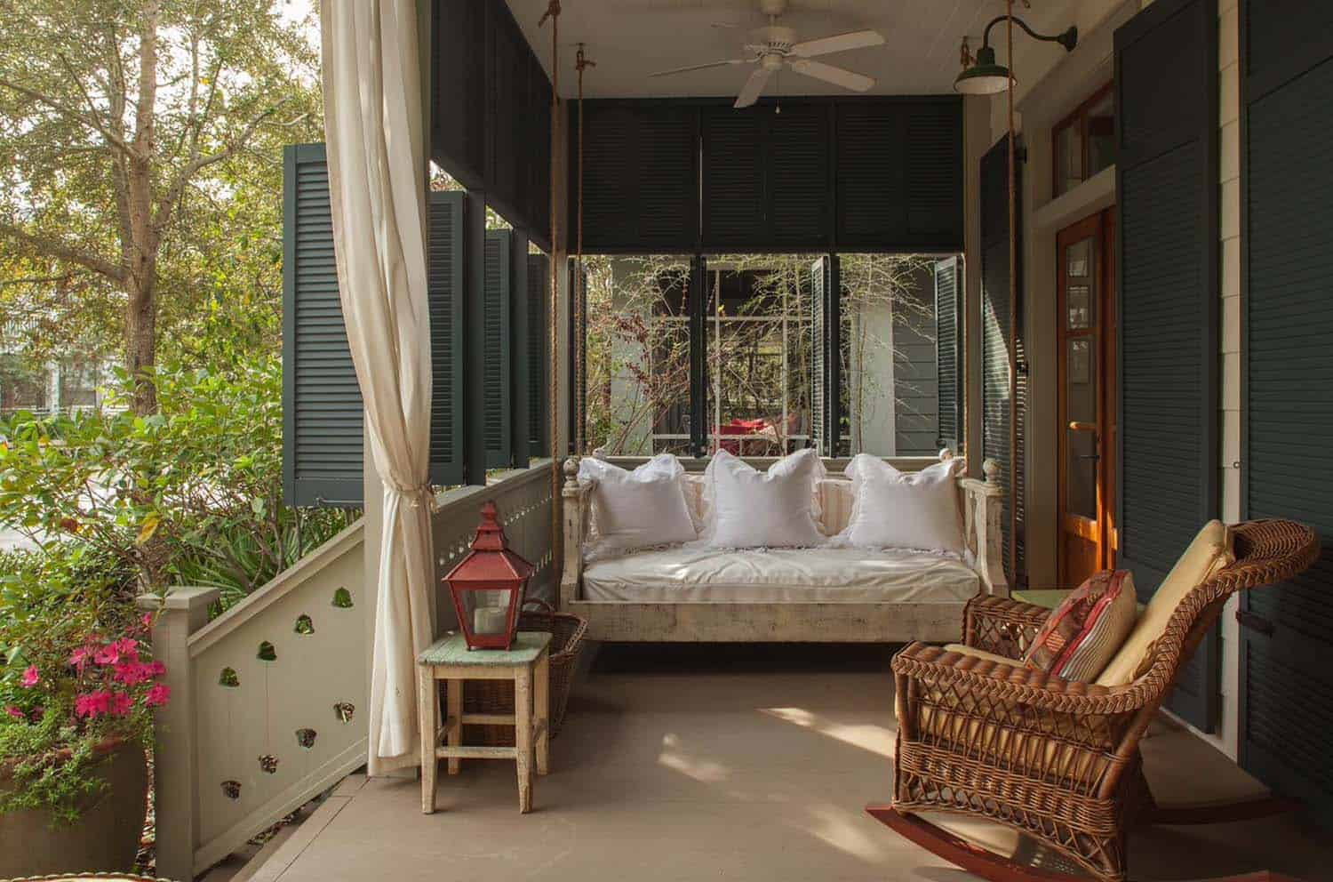 The Swing Bed Was Custom Designed For This Beach Cottage In Miami Florida However Original Charleston Bedswing Makes Ones That Are Similar Purchase