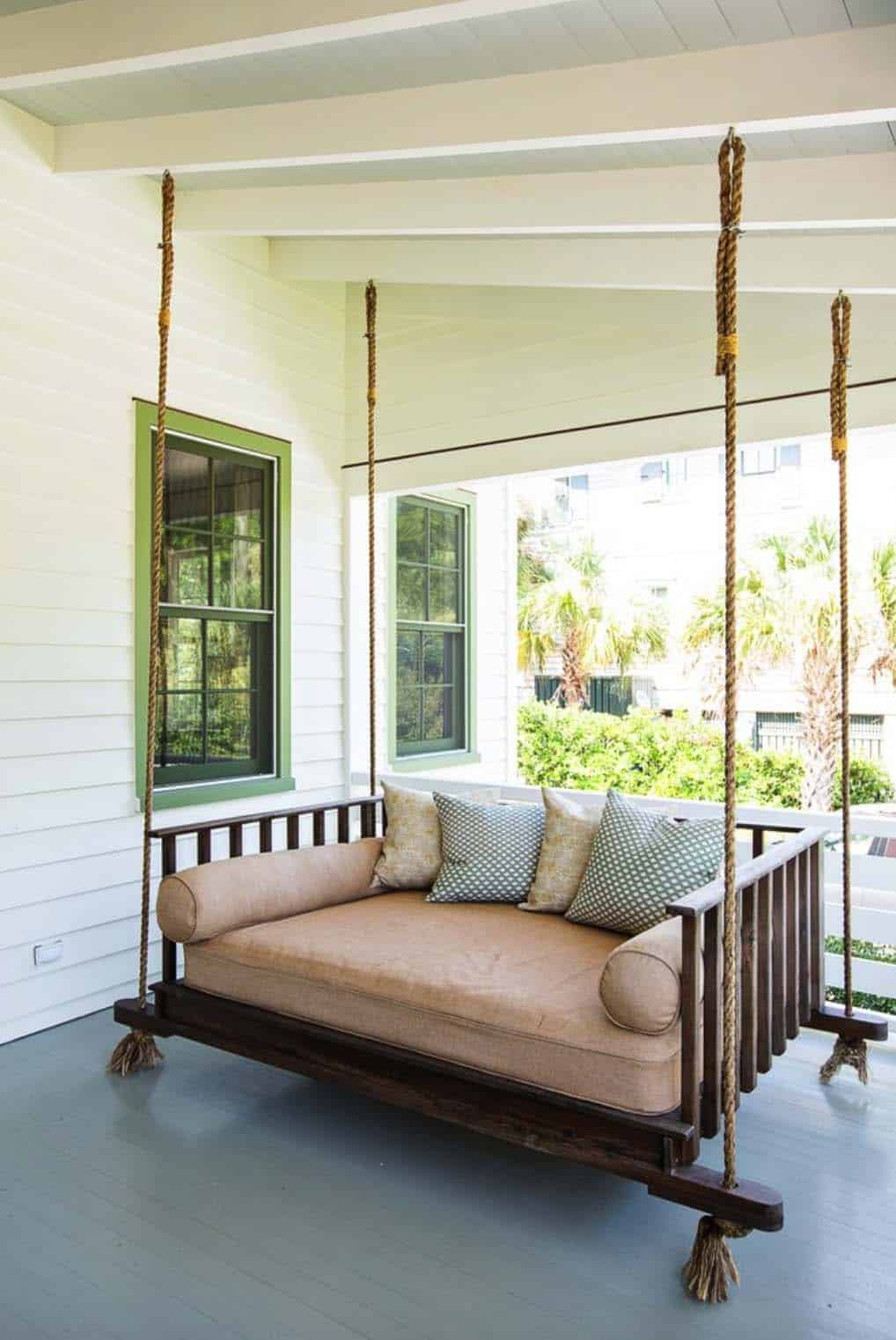 27 absolutely fabulous outdoor swing beds for summertime. Black Bedroom Furniture Sets. Home Design Ideas
