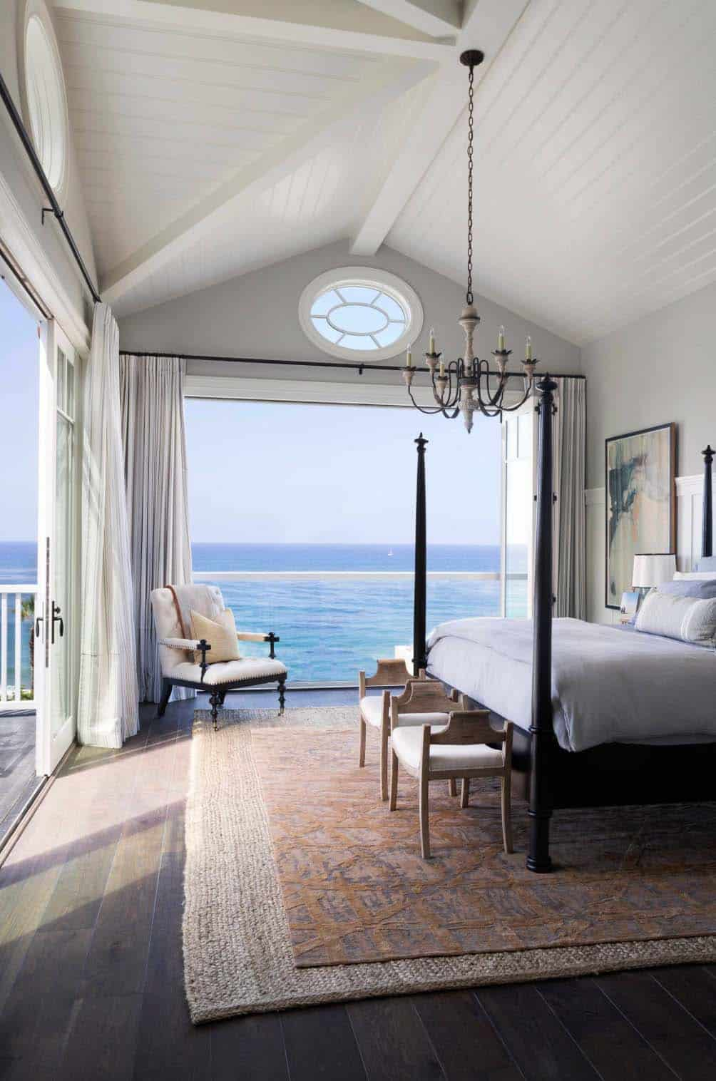 captivating beach chic master bedroom | East coast meets west coast in this California beach house