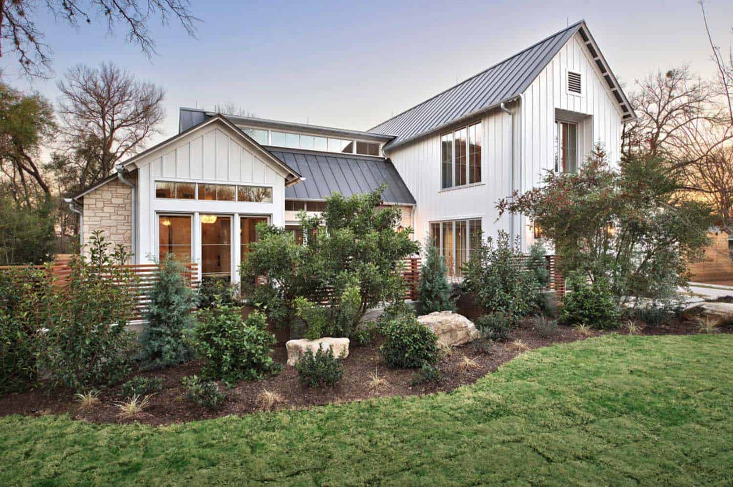Modern farmhouse features a cool indoor slide in texas for Farm house model