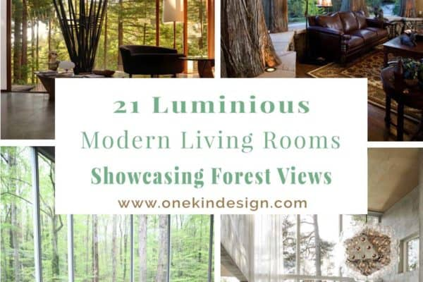 featured posts image for 21 Luminous modern living rooms showcasing forest views
