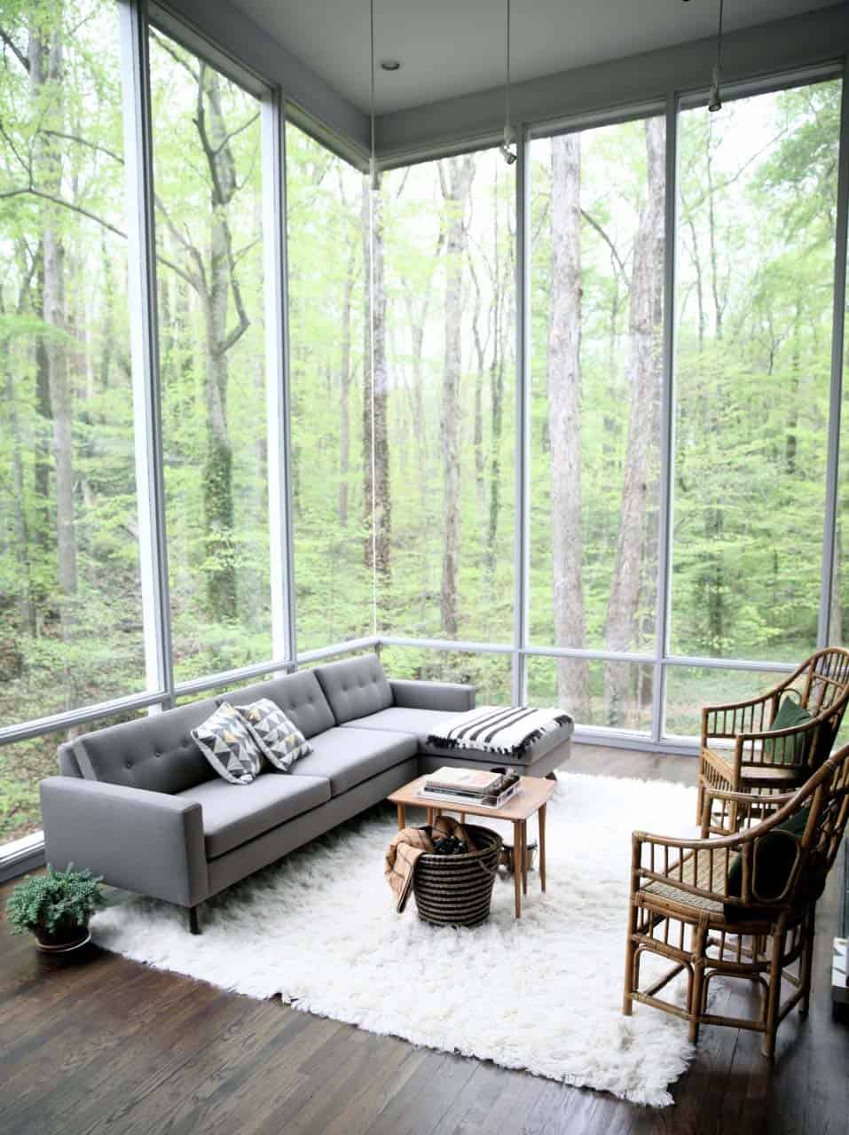 Modern Living Rooms Forest Views-01-1 Kindesign