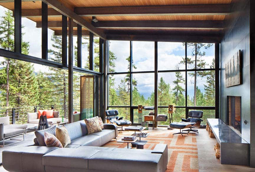 Modern Living Rooms Forest Views-02-1 Kindesign