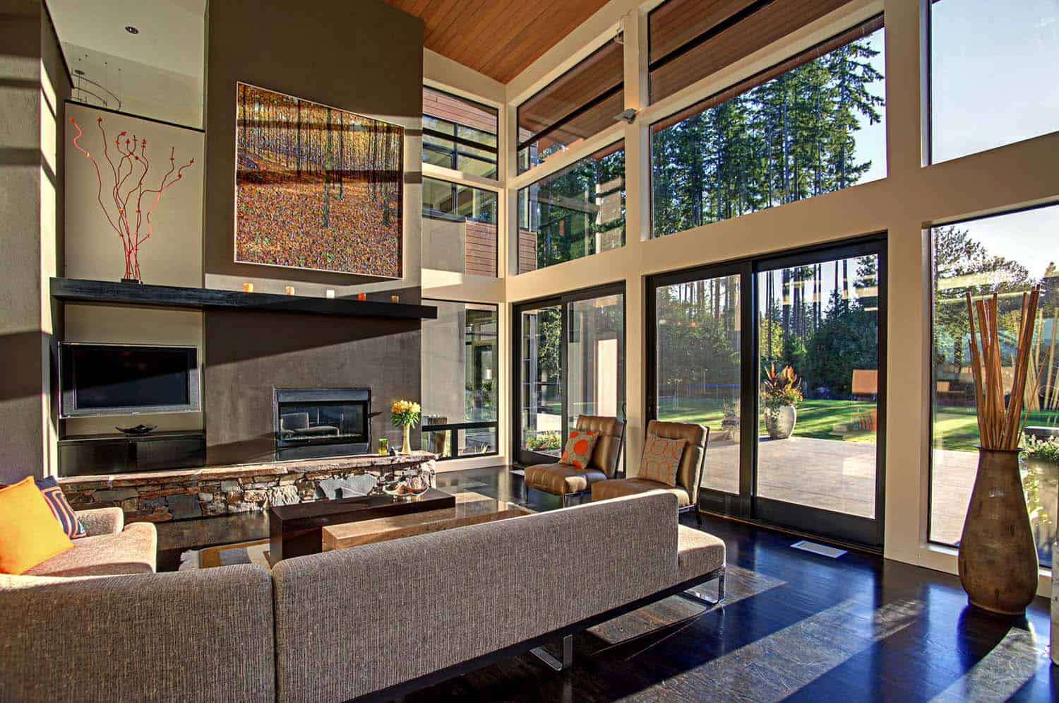 Modern Living Rooms Forest Views-06-1 Kindesign