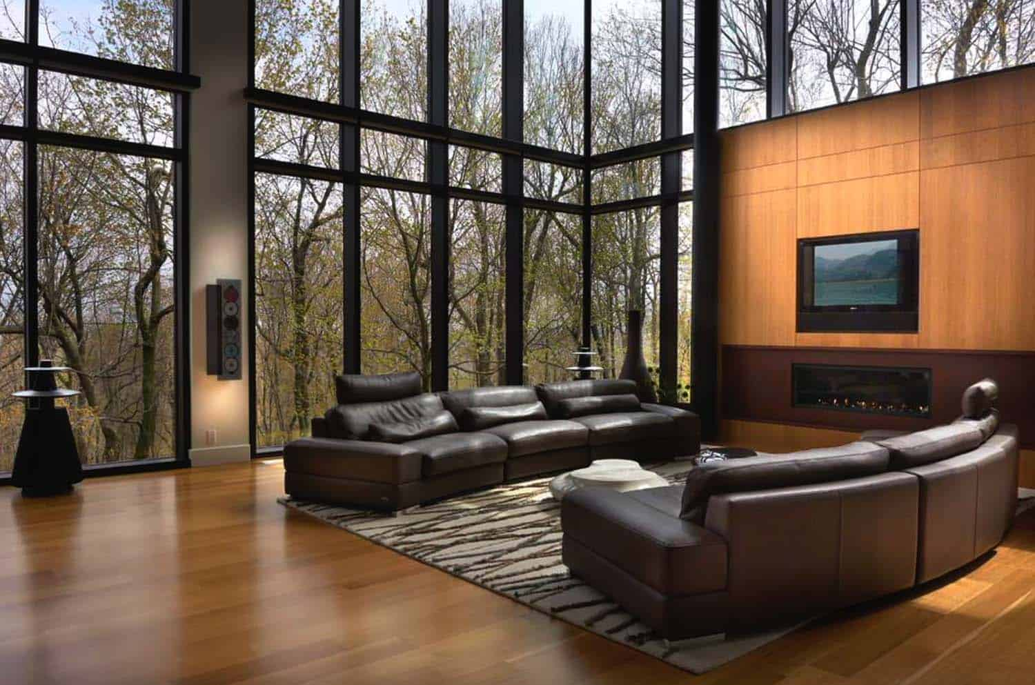 Modern Living Rooms Forest Views-08-1 Kindesign