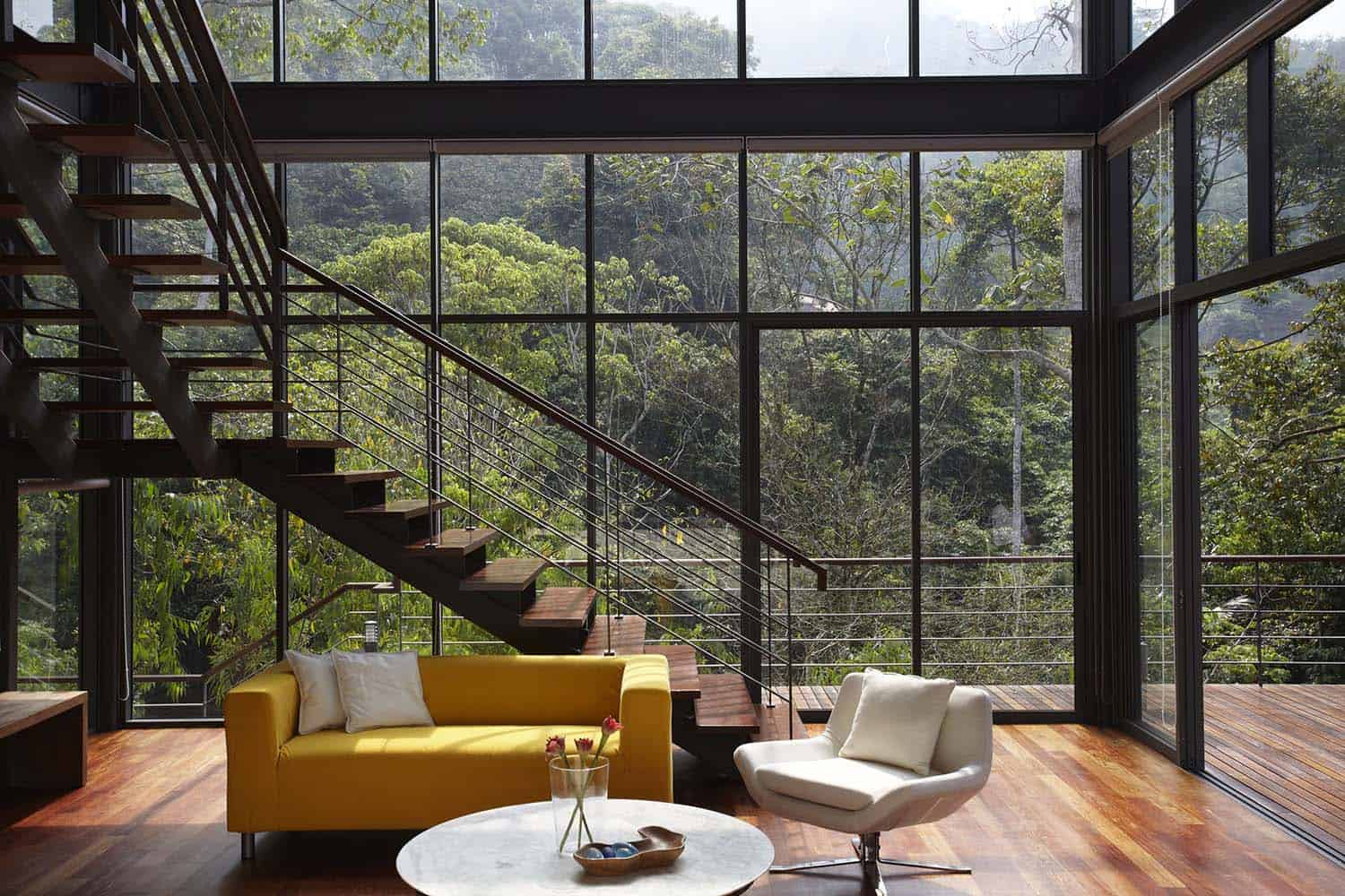 Modern Living Rooms Forest Views-14-1 Kindesign