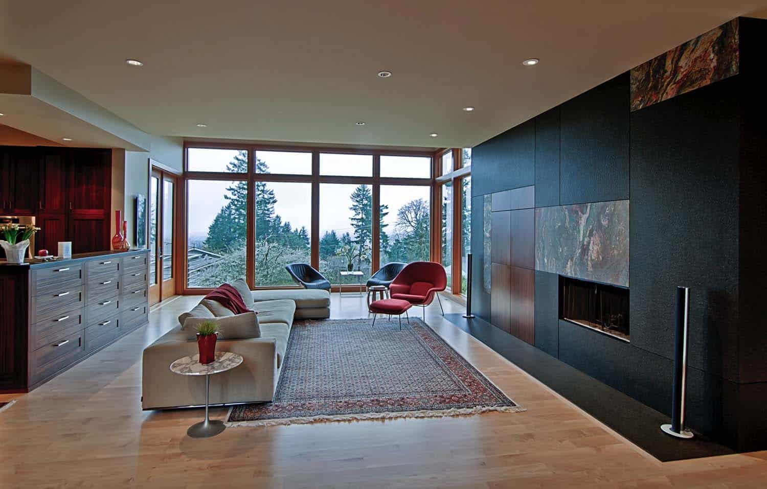 Modern Living Rooms Forest Views-16-1 Kindesign