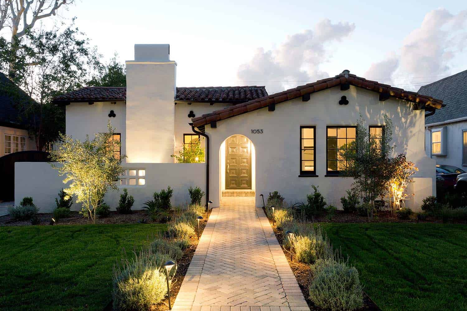 Inviting spanish style home gets refreshed in southern for Home style