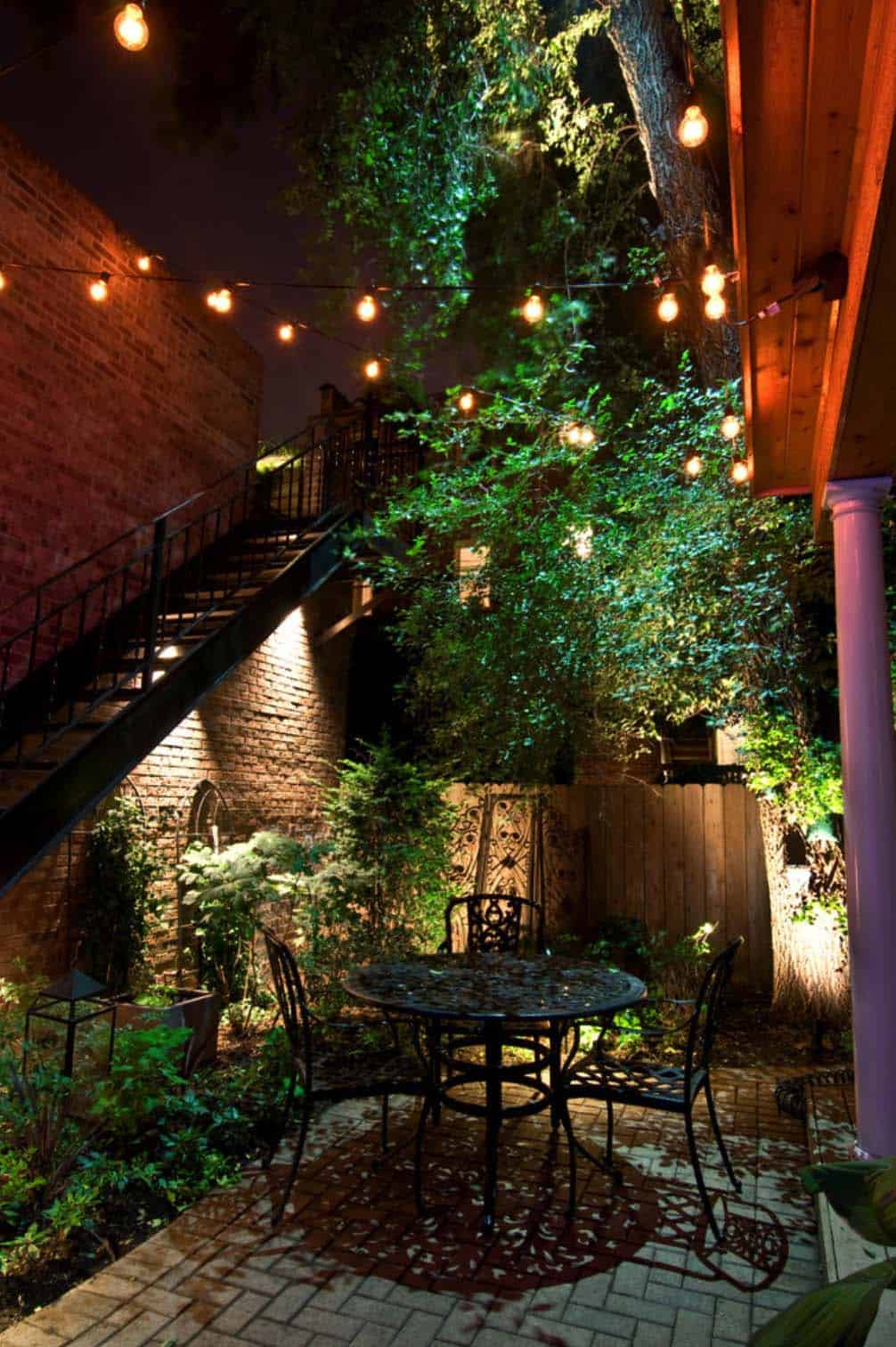 25 Very inspiring string light ideas for magical outdoor ...