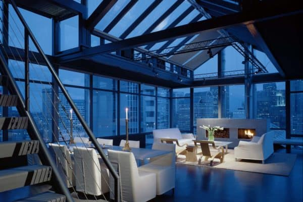 featured posts image for Minimalist penthouse apartment overlooking the Seattle skyline