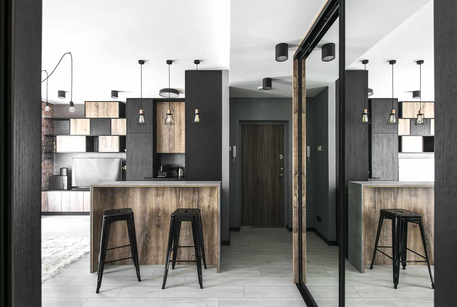 Modern Industrial Apartment-Authentic Interior-07-1 Kindesign