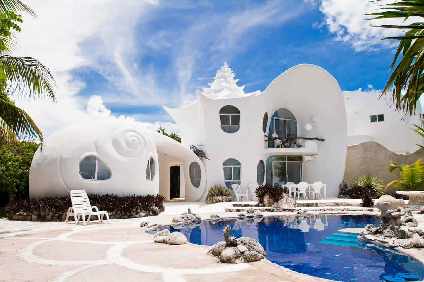 Seashell House-Casa Caracol-Isla Mujeres-Mexico-01-1 Kindesign