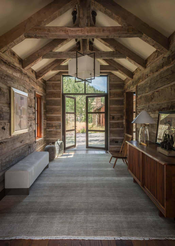 Modern-rustic homestead showcases views over the Teton Range