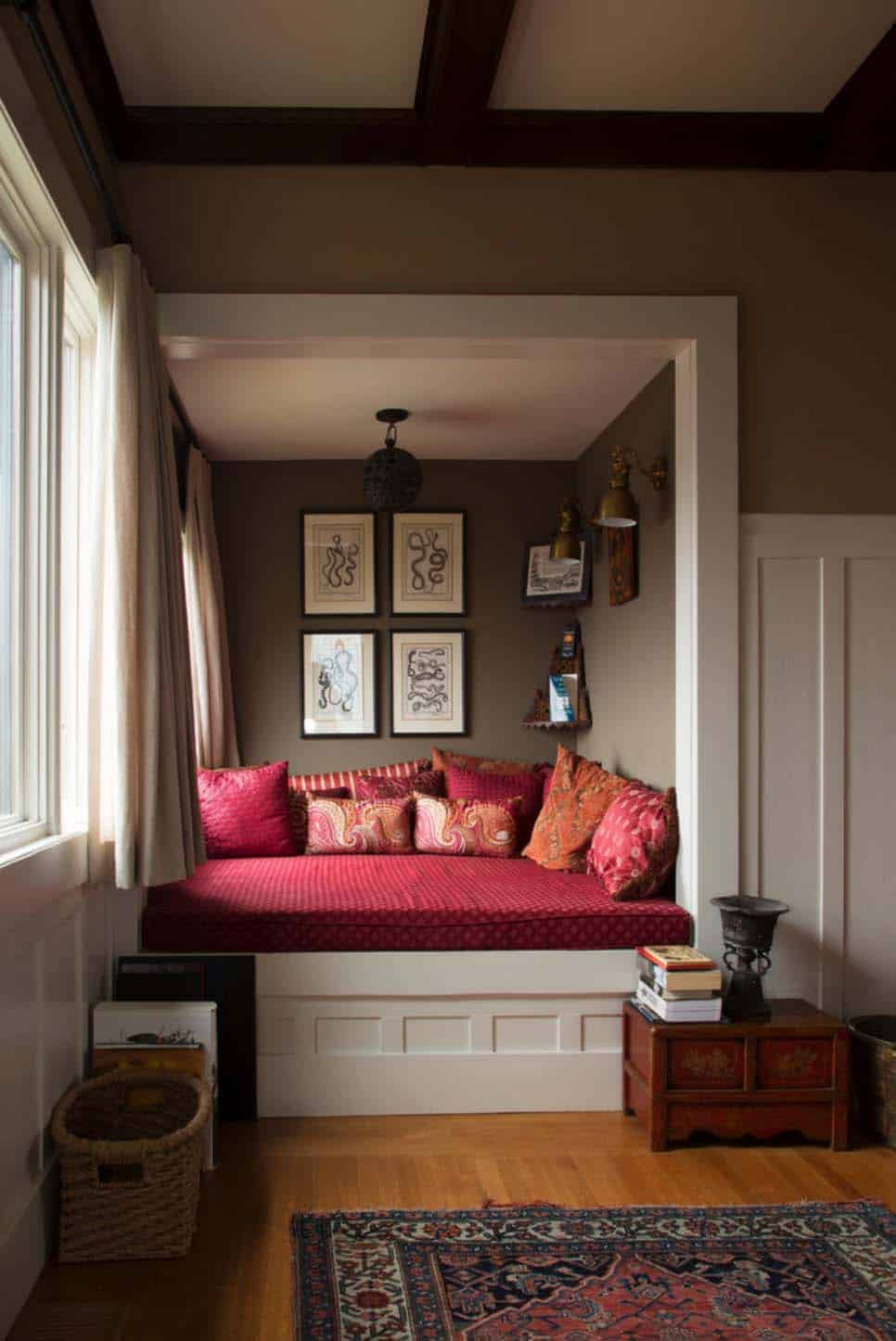 Reading Room Design Ideas: 30 Incredibly Cozy Built-in Reading Nooks Designed For