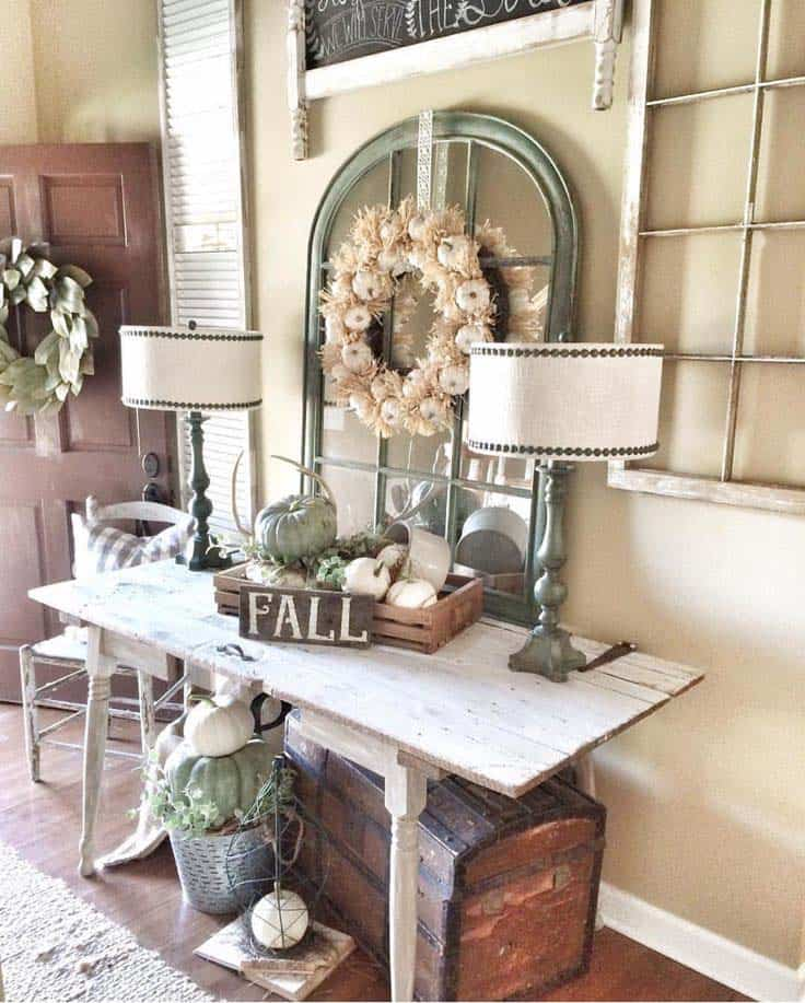 Hallway Entry Decorating Ideas: 28 Welcoming Fall-inspired Entryway Decorating Ideas