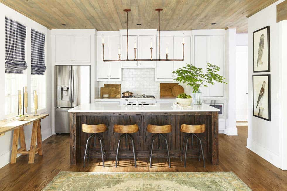 Lakefront home in alabama designed for indoor outdoor living Kitchen design lake house