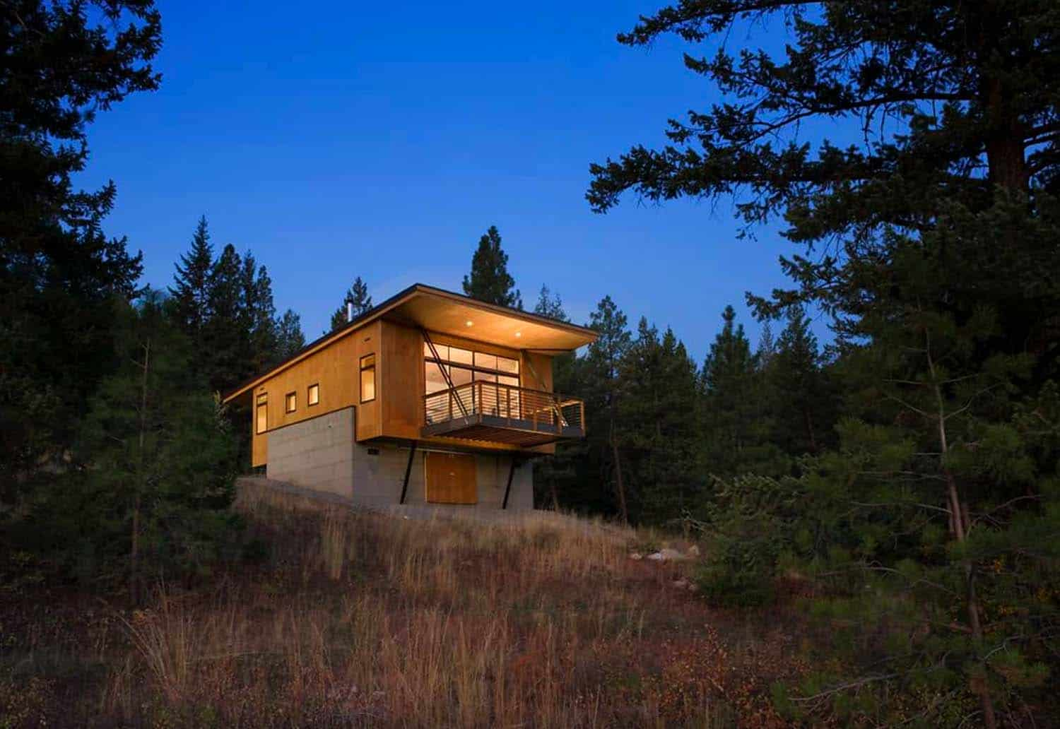 Roof Design Ideas: A Budget-friendly Cabin Surrounded By Forest In Methow Valley