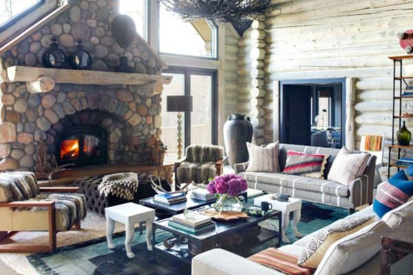 featured posts image for Ultra-cozy rustic log cabin nestled in the Rocky Mountains