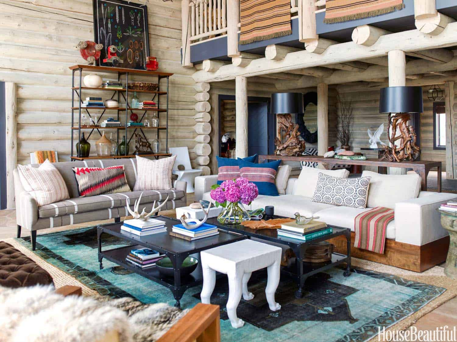 Rustic Log Cabin-Thom Filicia-02-1 Kindesign