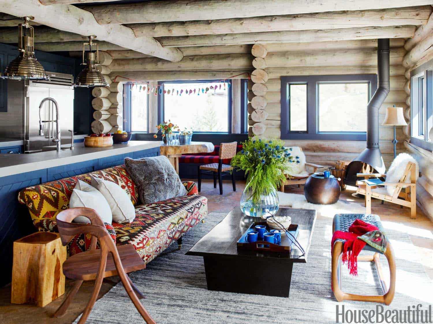 Rustic Log Cabin-Thom Filicia-03-1 Kindesign