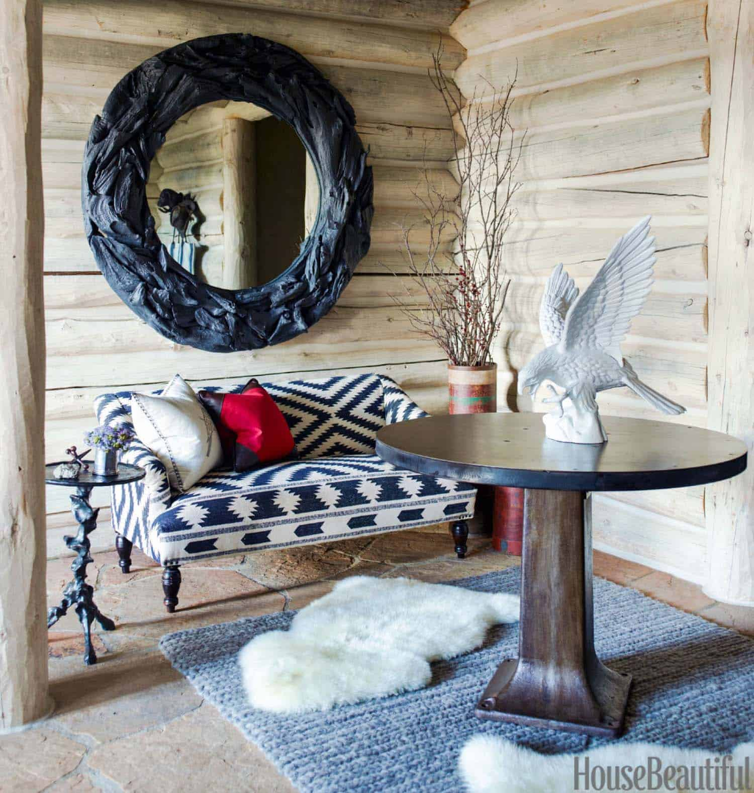 Rustic Log Cabin-Thom Filicia-06-1 Kindesign