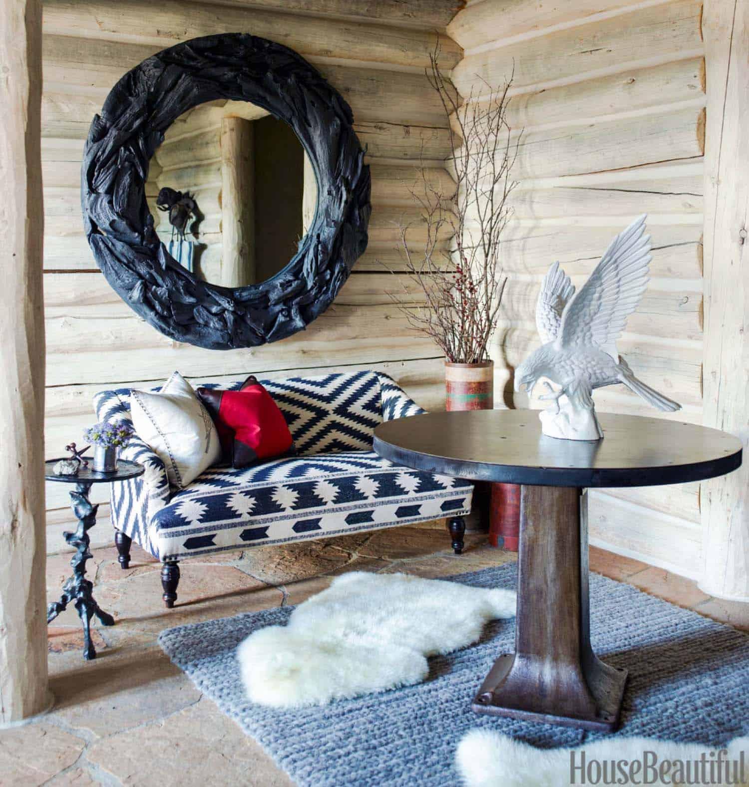 Rustic Log Cabin-Thom Filicia-06-1 Kindesign