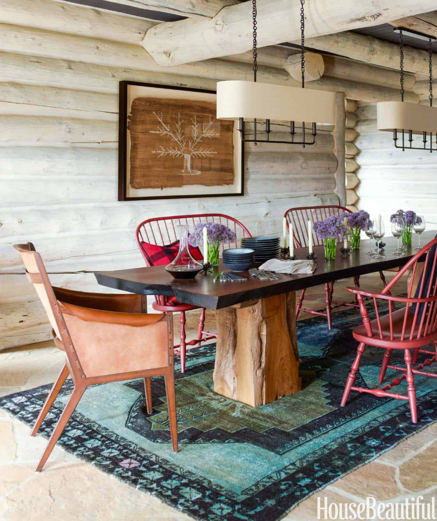 Rustic Log Cabin-Thom Filicia-07-1 Kindesign