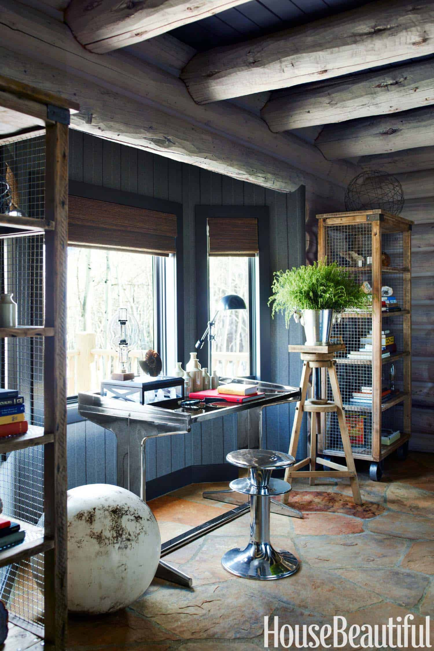 Rustic Log Cabin-Thom Filicia-08-1 Kindesign