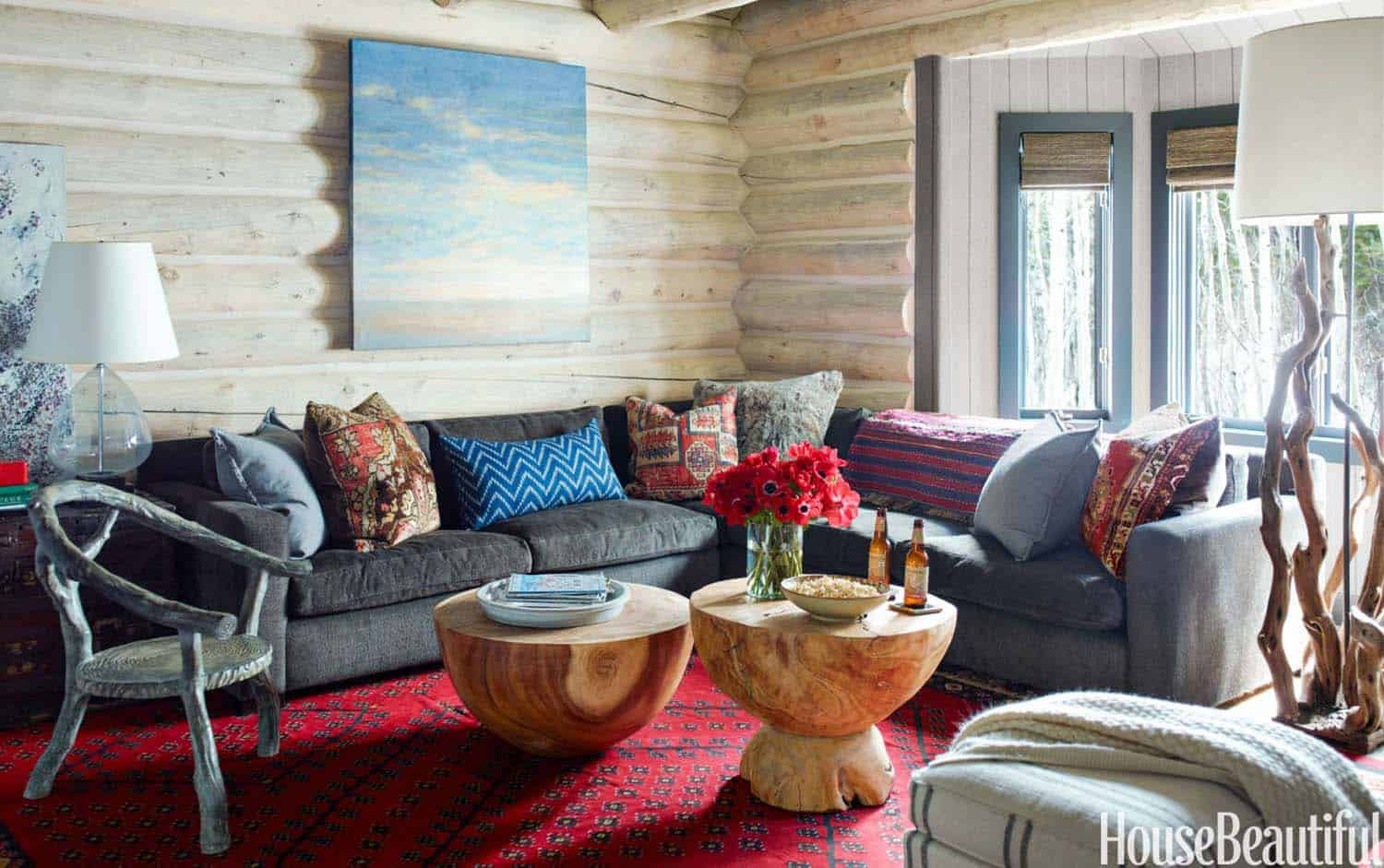 Rustic Log Cabin-Thom Filicia-11-1 Kindesign
