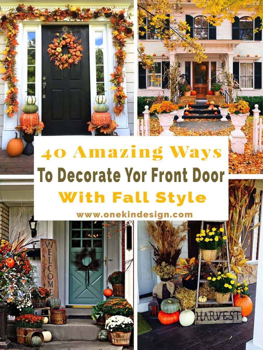 Fall Front Door Decorating Ideas-00-1 Kindesign & 40 Amazing ways to decorate your front door with fall style
