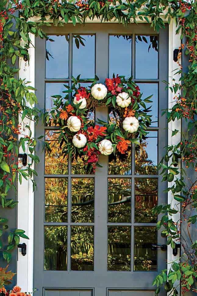 Fall Front Door Decorating Ideas-03-1 Kindesign