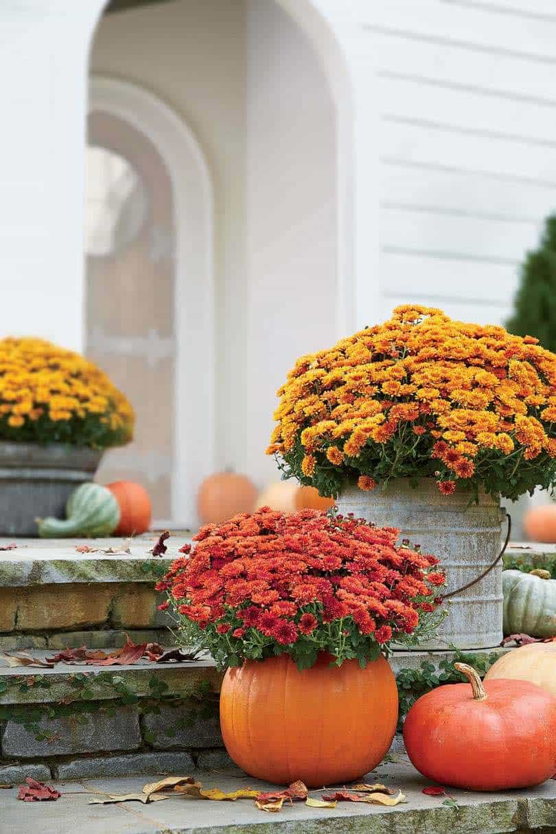 Fall Front Door Decorating Ideas-04-1 Kindesign