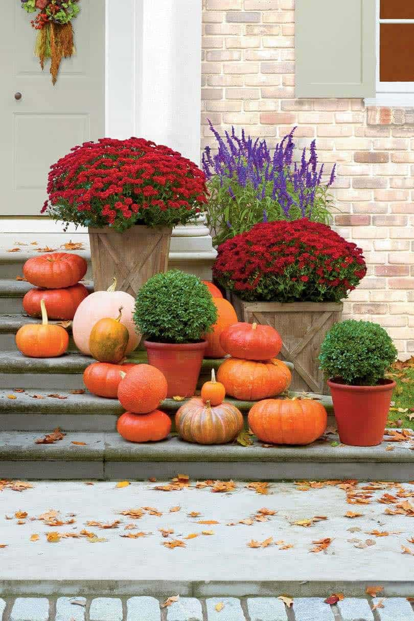 Fall Front Door Decorating Ideas-05-1 Kindesign