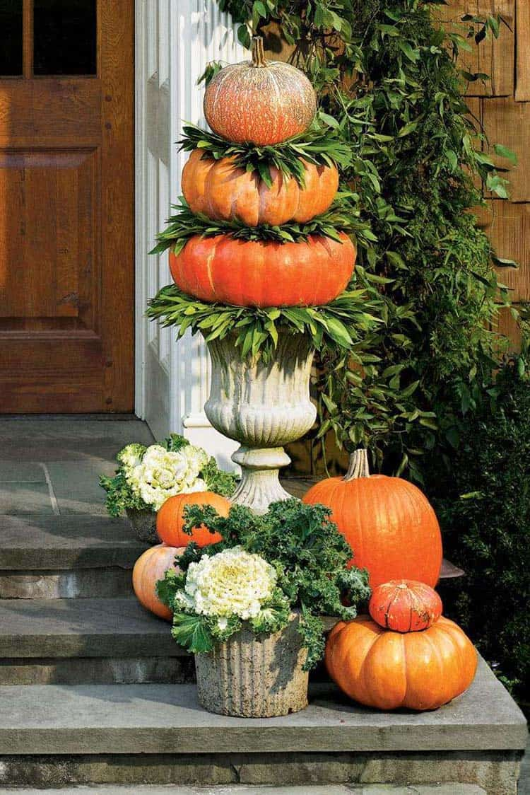 Fall Front Door Decorating Ideas-06-1 Kindesign