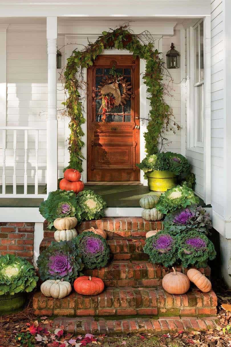 Fall Front Door Decorating Ideas-07-1 Kindesign
