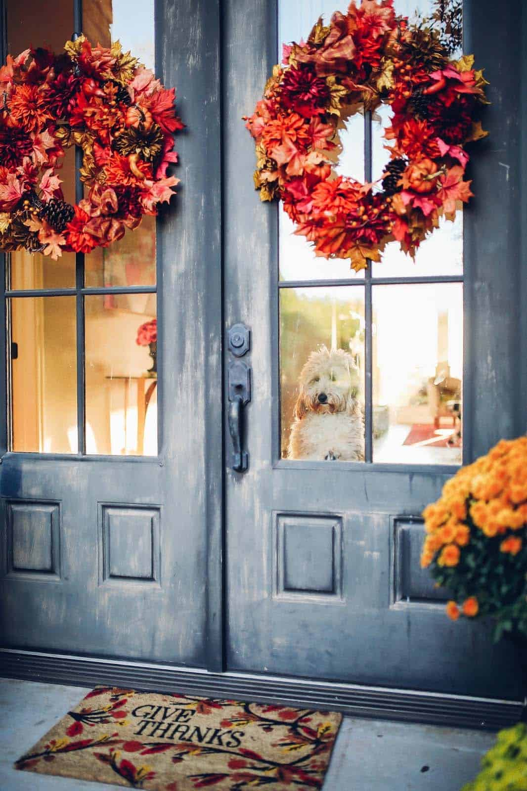 Fall Front Door Decorating Ideas-09-1 Kindesign