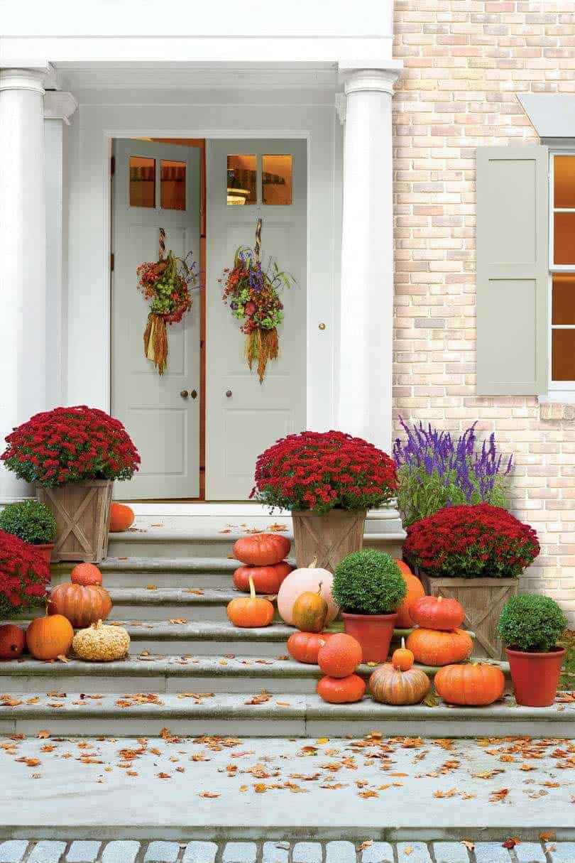 Fall Front Door Decorating Ideas-12-1 Kindesign