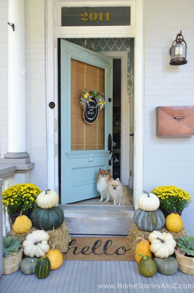 40 amazing ways to decorate your front door with fall style for Decoration ideas
