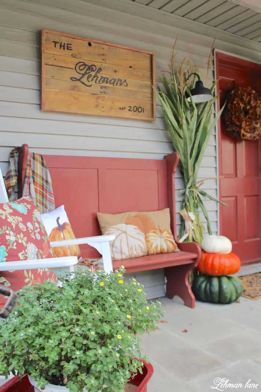 40 amazing ways to decorate your front door with fall style for Decor 17