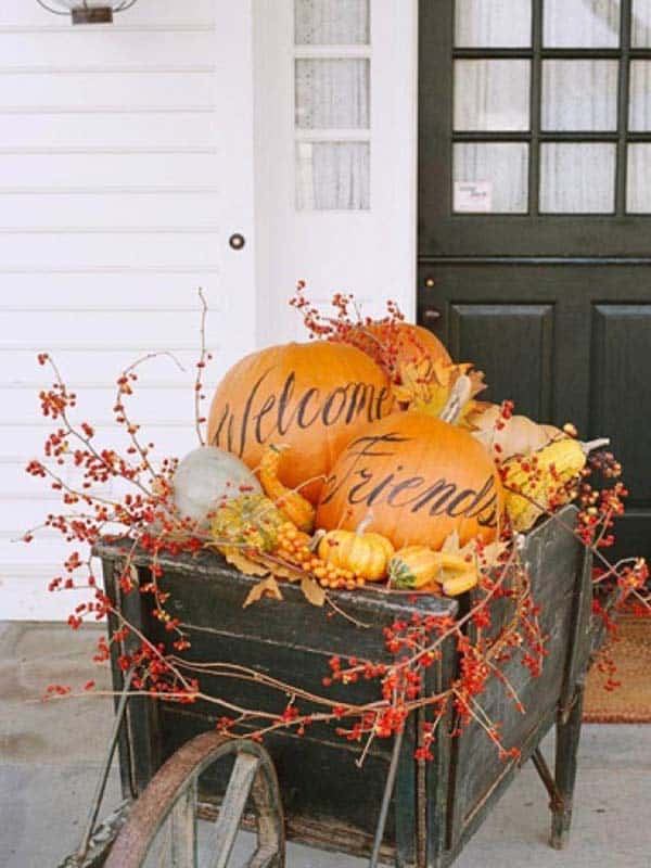 Fall Front Door Decorating Ideas-18-1 Kindesign